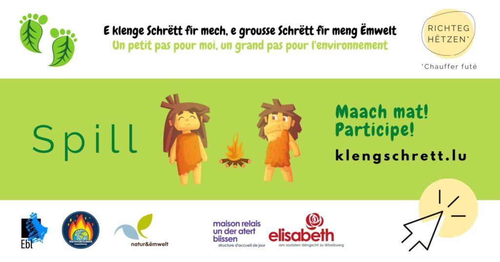 """La Maison relais elisabeth """"Un der atert"""" à Bissen participe activement à l'opération """"Un petit pas pour moi, un grand pas pour l'environnement"""""""
